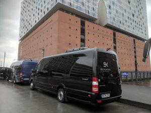 Mercedes Benz Sprinter im Einsatz Elbphilharmonie